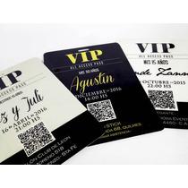 Credencial Vip 15 Años Invitaciones Tarjetas Plastificada