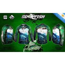 Remera De Pesca Deportiva Go Fish Modelo Pez Limon