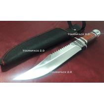 Cuchillo Táctico Acero Inoxidable 31cm De Largo.