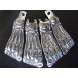 Pedaleiras Pe De Caveira Todas As Motos Em Aluminio 4 Pecas