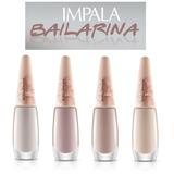 Esmalte Impala Bailarina 4 Cores 7,5ml Cremoso Lançamento