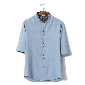 Camisa Para Mujer Estilo Chino. Manga Corta - Talla Xl