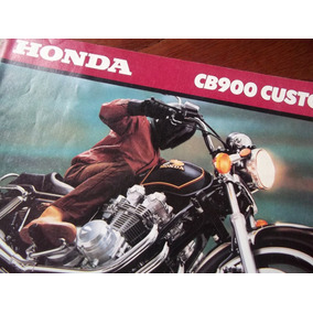 Honda Cb900 Custom 1980 Antiguo Folleto En La Plata
