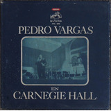 Discos Pedro Vargas En Vivo Carnegie Hall Estuche 3 Vinilos