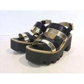 Sandalias Zapatos De Mujer En Cuero Primavera Verano Savage