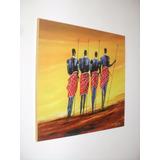 Cuadros Reproduccion Pinturas Arte Negras Africanas 25x25