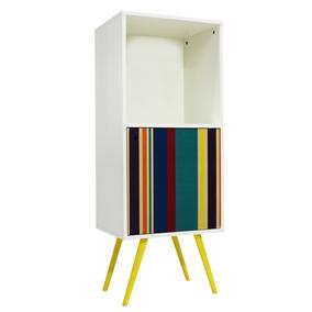 Armário Vertical 1 Porta 0313 Phorman 100% Mdf Branco/list