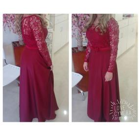 Vestido Longo De Festa - Madrinha De Casamento - Rosa