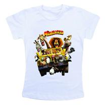 Camiseta Infantil Personalizada Madagascar Cm189