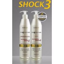 Kit Shock3 500ml - Regenerador Nutritivo - Nutra Hair