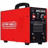 Máq Solda Inversora Tig Arc-200d Bivolt Star Weld (80%=200a)
