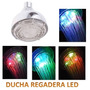 Regaderas Duchas Luces Led Colores Redonda Multicolor