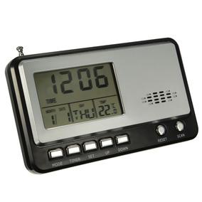 Relógio E Radio De Mesa Com Termometro E Despertador