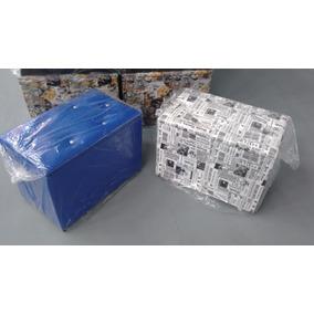 Kit 2 Puff Baú Retangular 58x38x40