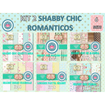 1 Kit Imprimible X 10 Sets Shabby Chic Romántico Florcitas