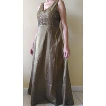 Vestido Longo Em Tafetá - Manequim 44