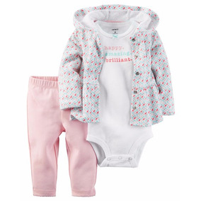 Carters Set Nena 6m Campera + Body + Pantalon