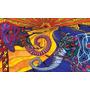 Elefante Pareja En Tela Canvas De 140x80 Cm - Exelente Cali