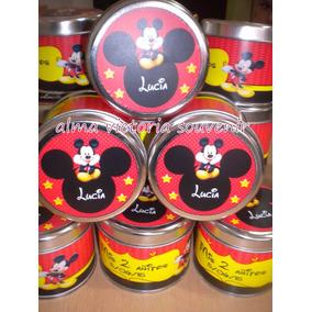 Mickey Y Minnie Mouse Latas Personalizadas 7,5 X 8 - 10u