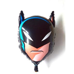 Balão Metalizado Batman Cabeça Kit/30 Balões + Frete Grátis