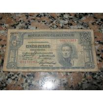 Antiguo Papel Moneda De Uruguay.