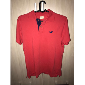 Camiseta Polo Hollister Vermelha L ( G ) Direto Eua / Usa