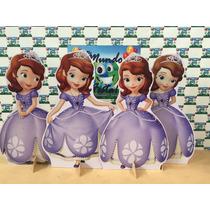 Kit Displays Princesa Sofia Com 8 Peças Mdf3m,painel.totens