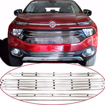 Sobre Grade Cromo Aço Inox Nova Fiat Toro 2016 /...