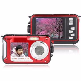 Camara Digital Sumergible 24mp Doble Lcd Full Hd 16x Zoom