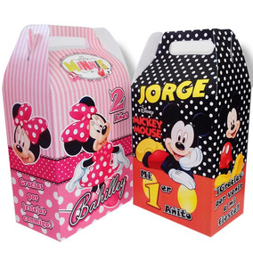Cajitas Dulceros Personalizados Mickey Mouse Minnie Mimi