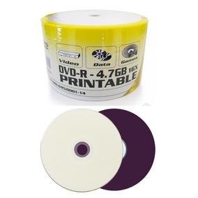 50 Dvd-r Virgem Printable + 50 Cd-r Virgem Printable