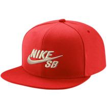 Bone Nike Sb Vermelho Lançamento Snapback Feixo Plastico
