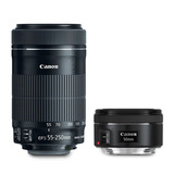 Pack Lentes Canon   50mm + 55-250mm   Smartevice