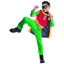 Disfraz Niño Traje De Robin De Teen Titans Hijo, Pequeño