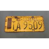 Placa Amarela C/ Lacre 1982 - Lajeado Rs - 2t7