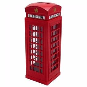 5x Cofre Cabine Telefone Londres Metal Retro/vintage