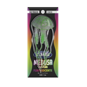 Adorno Medusa Ch Fluorescente Para Acuario