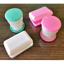 Ideal Para Chá De Bebê - 1 Kit Copo Sanfonado + Saboneteira