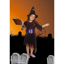 Disfraz Halloween Brujita Completo! Nena Variedad! Jiujim