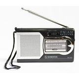 Radio Portable Am Fm Sonivox Vs-r3 Audifonos Pilas Aa Antena