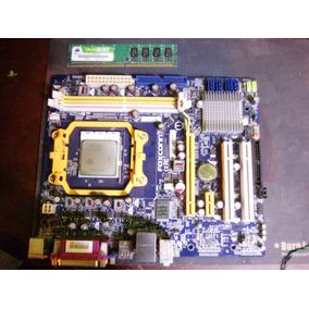 Tarjeta Madre Foxconn M61pmv + Cpu + 1gb Ram + Rejilla + ++