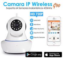 Camara Ip De Seguridad Wifi Hd Alarma 64 Sensores