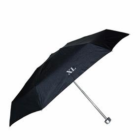 Paraguas Mediano Estuche Negro Con Manija Xl Extra Large