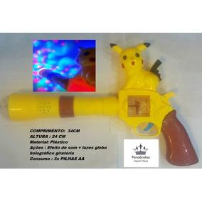 Arma De Brinquedo Pokemon Pikachu Musical Com Luz