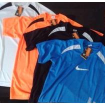 Kit 3 Camisetas Dry Fit Poliester Academia E Corrida