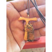 Tau Franciscana En Madera Hermoso Diseño