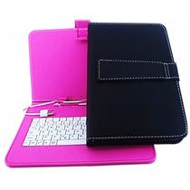 Capa Case Couro Teclado Usb Universal Tablet 9p + Adaptador