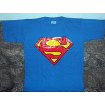 Playera Superman 10-12 Niño Capitan America Spiderman Batman