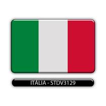 Adesivo Automotivo Bandeira Paises Italia Resinado