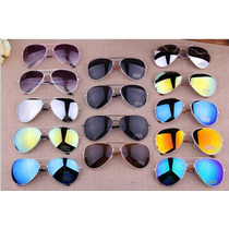 Kit 15 Oculos Sol Aviador Unissex Sem Marca Atacado Revenda